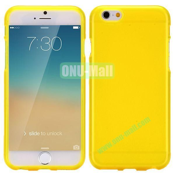 Solid Color Frosted Surface TPU Case for iPhone 6 4.7 inch (Yellow)