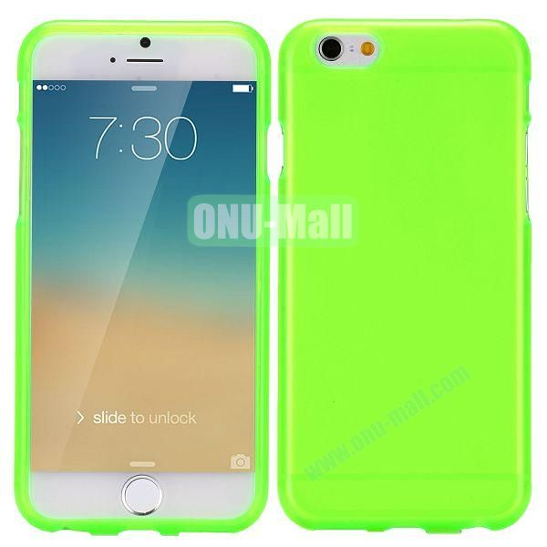 Solid Color Frosted Surface TPU Case for iPhone 6 4.7 inch (Green)