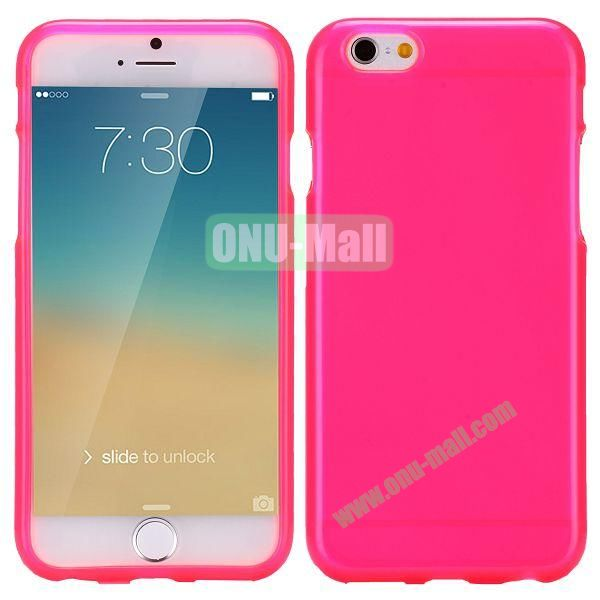 Solid Color Frosted Surface TPU Case for iPhone 6 Plus 5.5 inch (Rose)