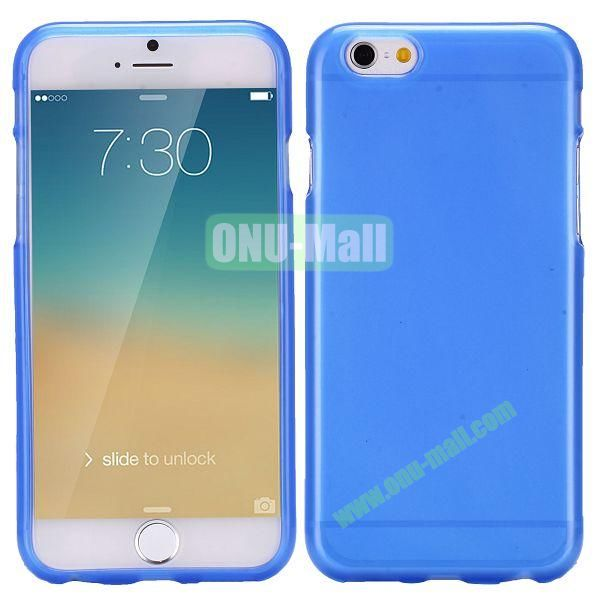 Solid Color Frosted Surface TPU Case for iPhone 6 4.7 inch (Blue)