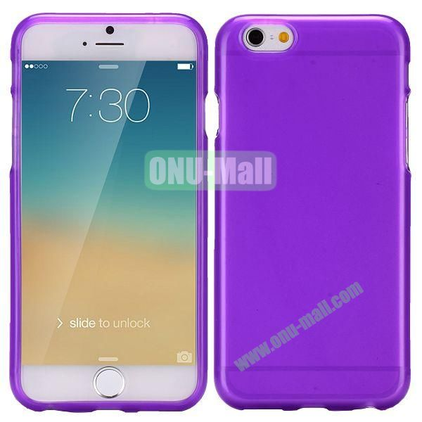 Solid Color Frosted Surface TPU Case for iPhone 6 4.7 inch (Purple)