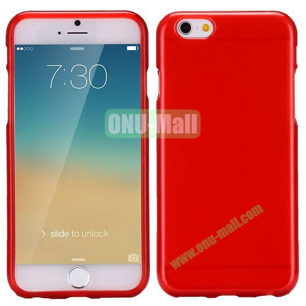 Solid Color Frosted Surface TPU Case for iPhone 6 4.7 inch (Red)