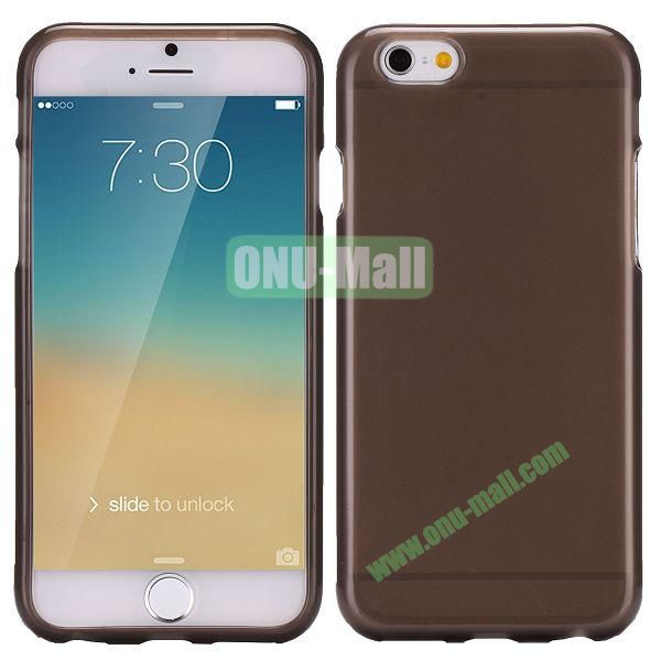 Solid Color Frosted Surface TPU Case for iPhone 6 4.7 inch (Transparent Black)