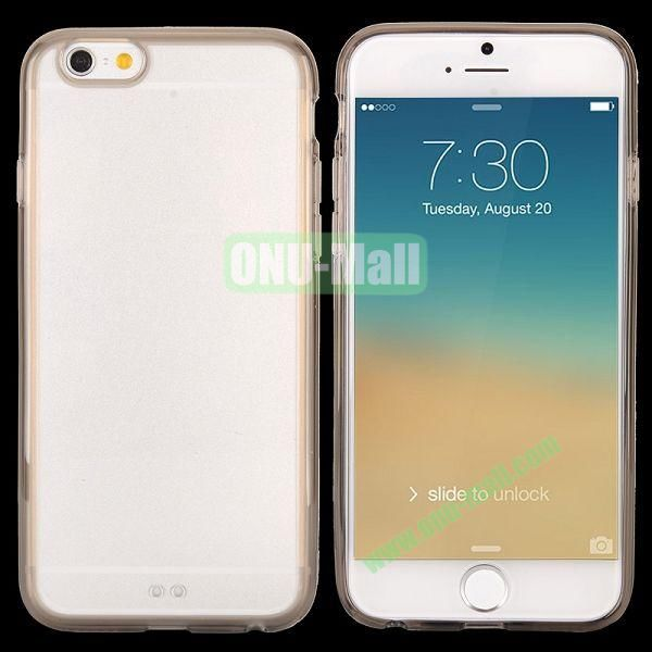 Transparent PC + TPU Back Case for iPhone 6 4.7 inch (Grey)