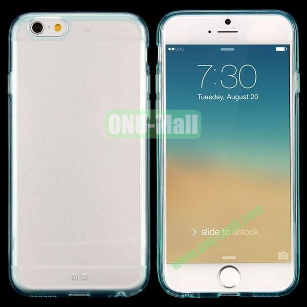 Transparent PC + TPU Back Case for iPhone 6 4.7 inch (Light Blue)