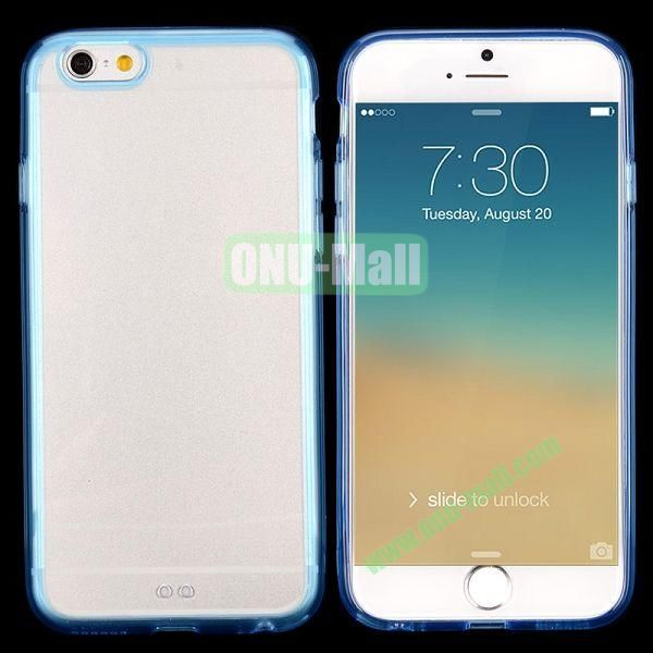Transparent PC + TPU Back Case for iPhone 6 4.7 inch (Blue)