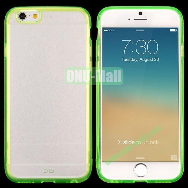 Transparent PC + TPU Back Case for iPhone 6 4.7 inch (Green)