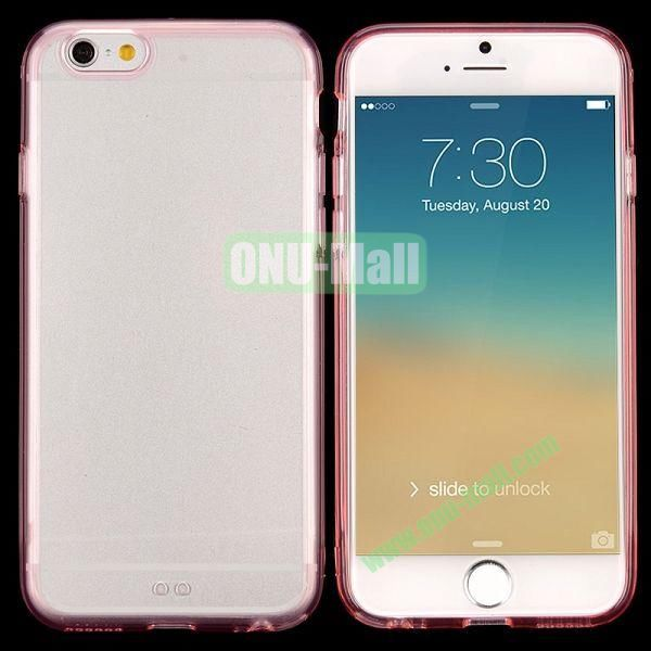 Transparent PC + TPU Back Case for iPhone 6 4.7 inch (Pink)