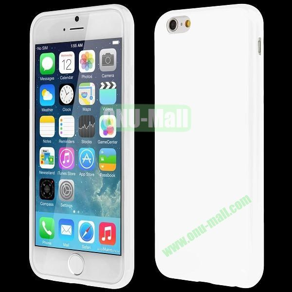 Slim Smooth Solid Color TPU Case for iPhone 6 Plus 5.5 inch (White)