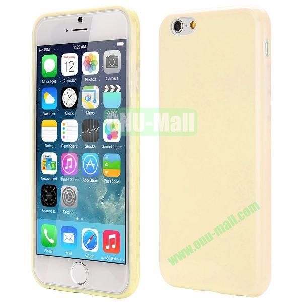 Slim Smooth Solid Color TPU Case for iPhone 6 Plus 5.5 inch (Light Yellow)