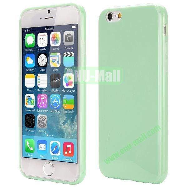 Slim Smooth Solid Color TPU Case for iPhone 6 Plus 5.5 inch (Light Green)