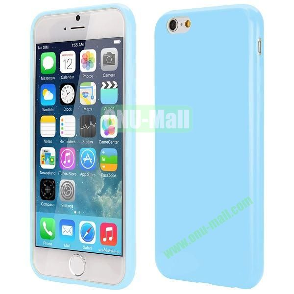 Slim Smooth Solid Color TPU Case for iPhone 6 Plus 5.5 inch (Light Blue)