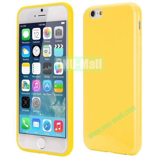 Slim Smooth Solid Color TPU Case for iPhone 6 Plus 5.5 inch (Yellow)