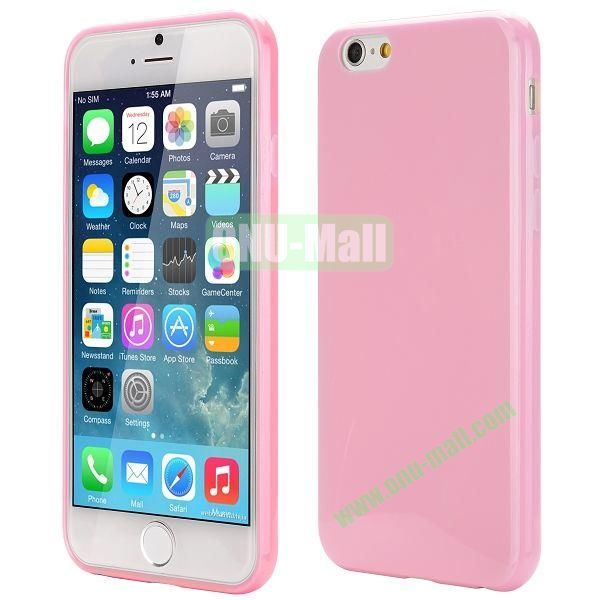 Slim Smooth Solid Color TPU Case for iPhone 6 Plus 5.5 inch (Pink)