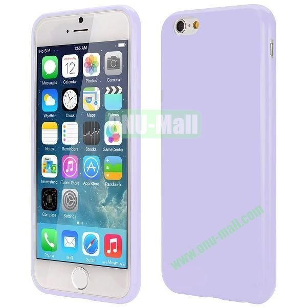 Slim Smooth Solid Color TPU Case for iPhone 6 Plus 5.5 inch (Light Purple)