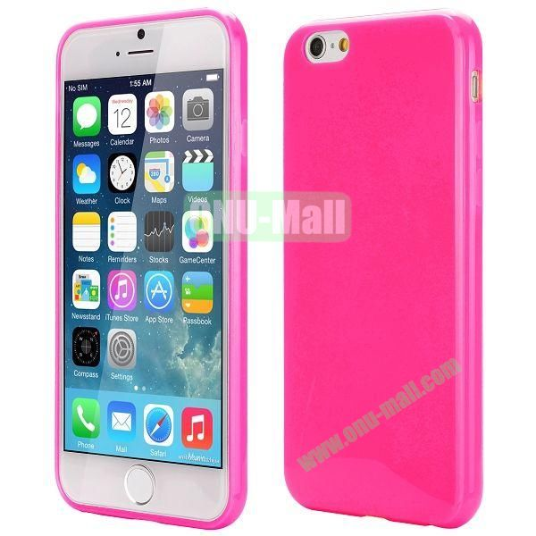 Slim Smooth Solid Color TPU Case for iPhone 6 Plus 5.5 inch (Rose)