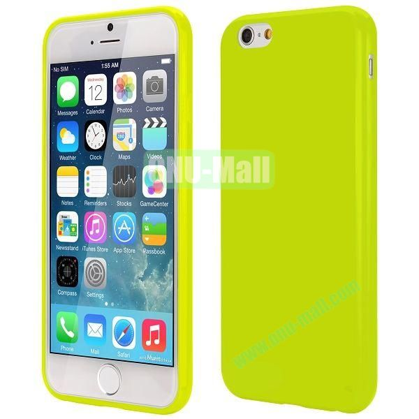 Slim Smooth Solid Color TPU Case for iPhone 6 Plus 5.5 inch (Green)