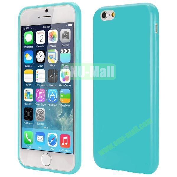 Slim Smooth Solid Color TPU Case for iPhone 6 Plus 5.5 inch (Cyan)
