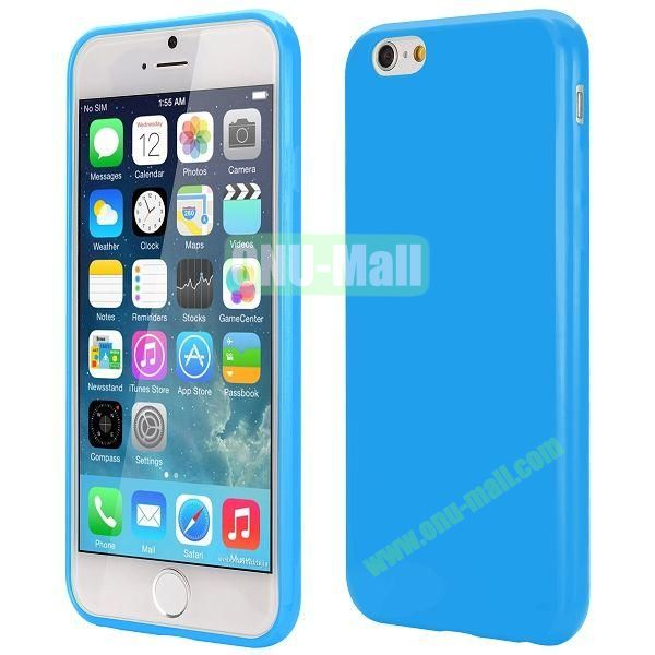 Slim Smooth Solid Color TPU Case for iPhone 6 Plus 5.5 inch (Blue)