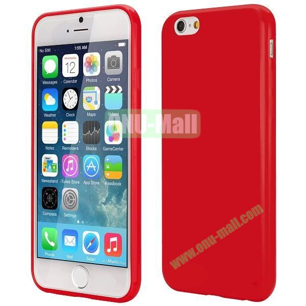 Slim Smooth Solid Color TPU Case for iPhone 6 Plus 5.5 inch (Red)