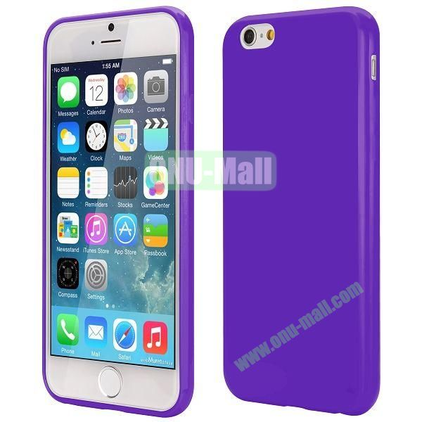 Slim Smooth Solid Color TPU Case for iPhone 6 Plus 5.5 inch (Purple)