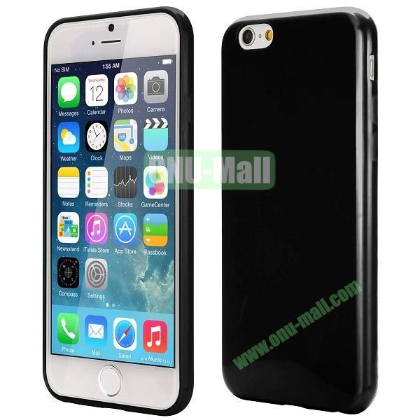Slim Smooth Solid Color TPU Case for iPhone 6 Plus 5.5 inch (Black)