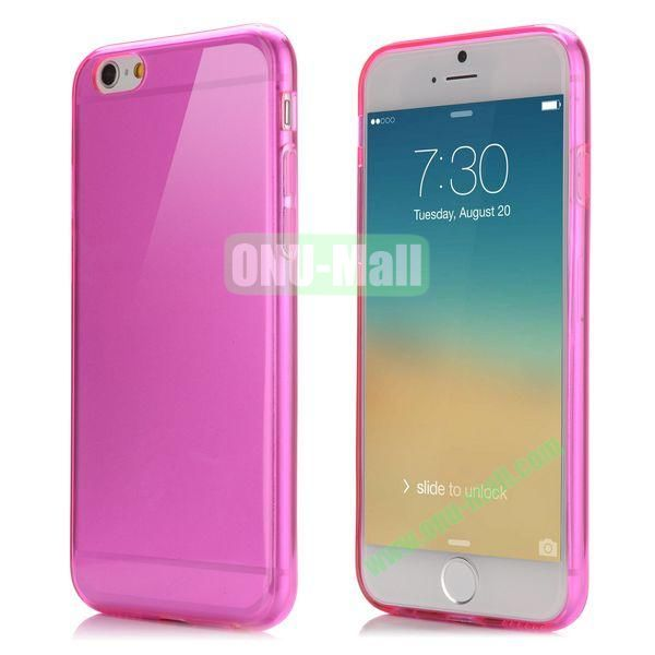 Smooth Slim TPU Case for iPhone 6 Plus 5.5 inch (Rose)