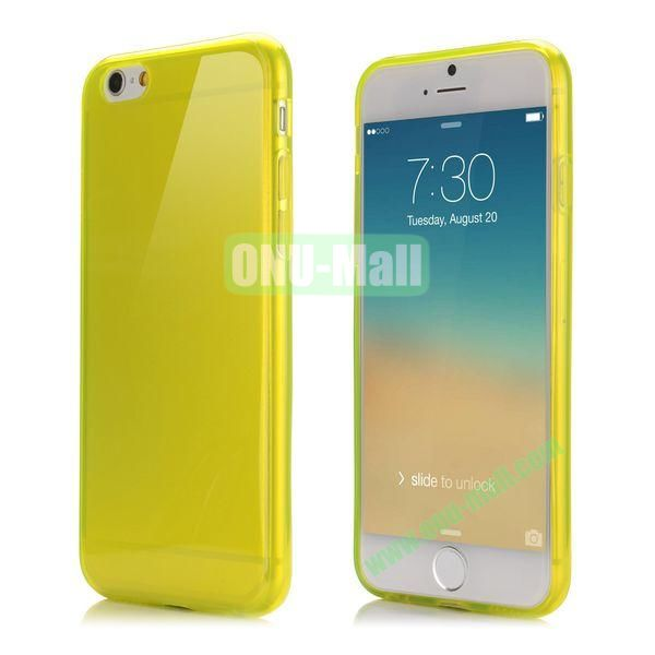 Smooth Slim TPU Case for iPhone 6 Plus 5.5 inch (Yellow)