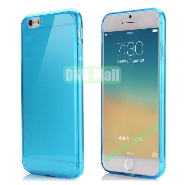 Smooth Slim TPU Case for iPhone 6 Plus 5.5 inch (Blue)