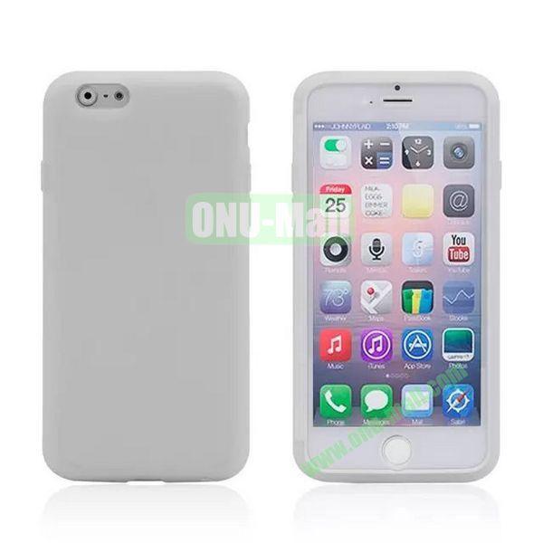 Double Side Transparent Flip TPU Case for iPhone 6 Plus 5.5 inch (Transparent)