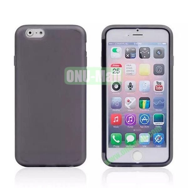 Double Side Transparent Flip TPU Case for iPhone 6 Plus 5.5 inch (Grey)