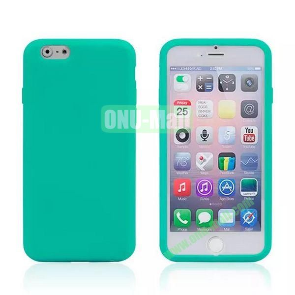 Double Side Transparent Flip TPU Case for iPhone 6 Plus 5.5 inch (Green)