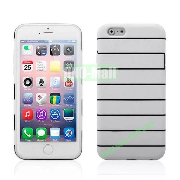 Stripes Style Pattern TPU Case for iPhone 6 Plus 5.5 inch (White)