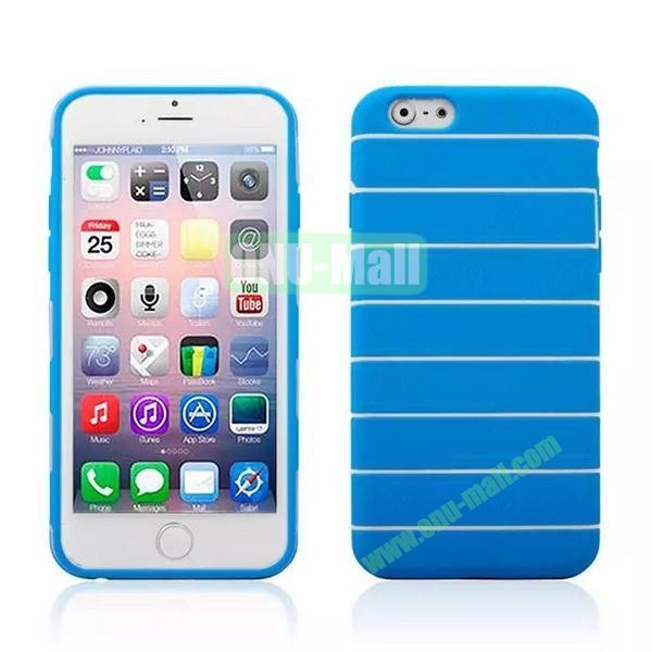 Stripes Style Pattern TPU Case for iPhone 6 Plus 5.5 inch (Blue)