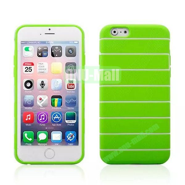 Stripes Style Pattern TPU Case for iPhone 6 Plus 5.5 inch (Green)