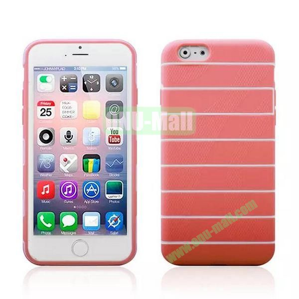 Stripes Style Pattern TPU Case for iPhone 6 Plus 5.5 inch (Pink)