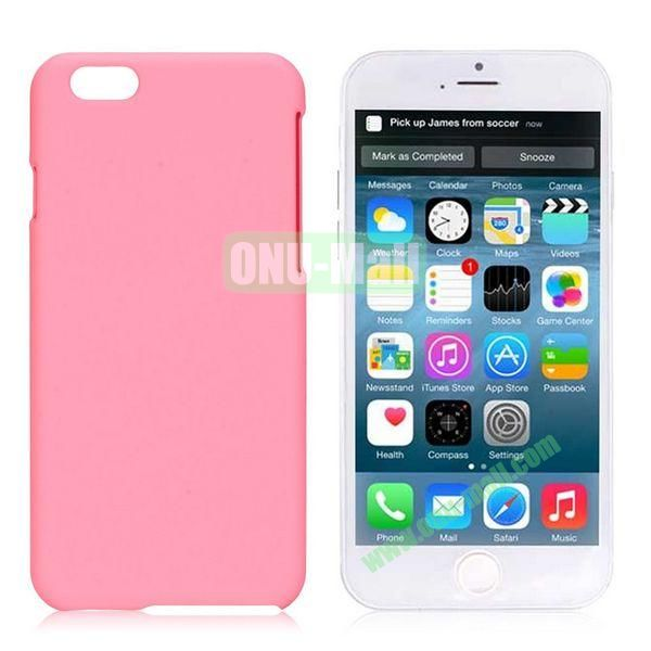 Simple Solid Color Rubber Coated PC Hard Case for iPhone 6 4.7 inch  (Pink)