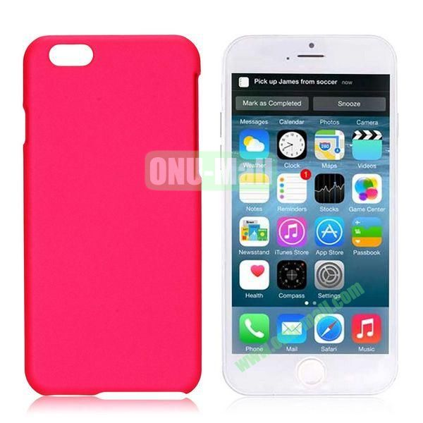 Simple Solid Color Rubber Coated PC Hard Case for iPhone 6 4.7 inch  (Rose)