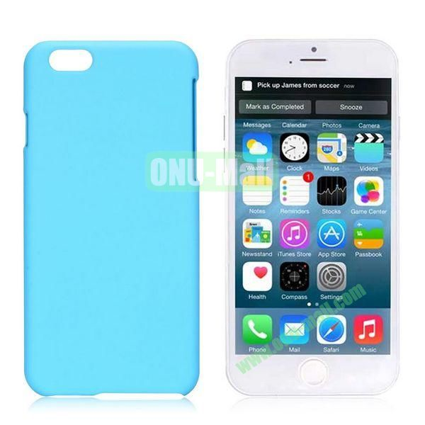 Simple Solid Color Rubber Coated PC Hard Case for iPhone 6 Plus 5.5 inch (Light Blue)