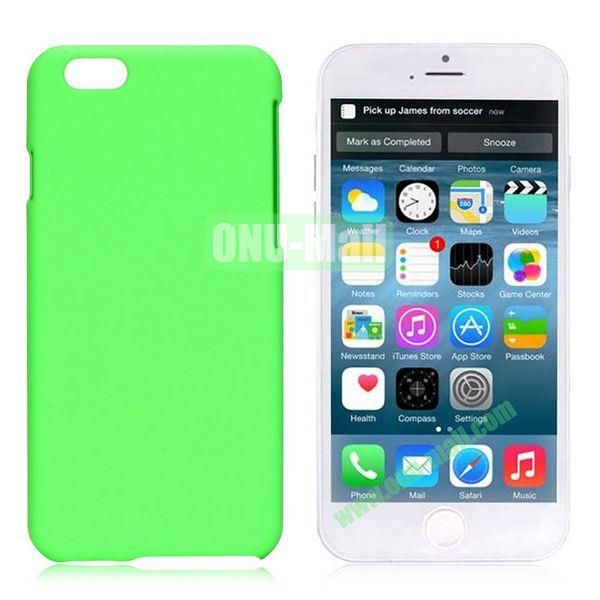 Simple Solid Color Rubber Coated PC Hard Case for iPhone 6 4.7 inch  (Green)