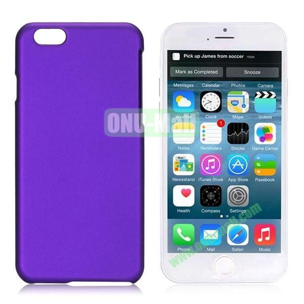 Simple Solid Color Rubber Coated PC Hard Case for iPhone 6 Plus 5.5 inch (Purple)