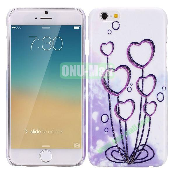Glitter Powder Romantic Pattern PC Hard Case for iPhone 6 Plus 5.5 inch (Heart Tree)