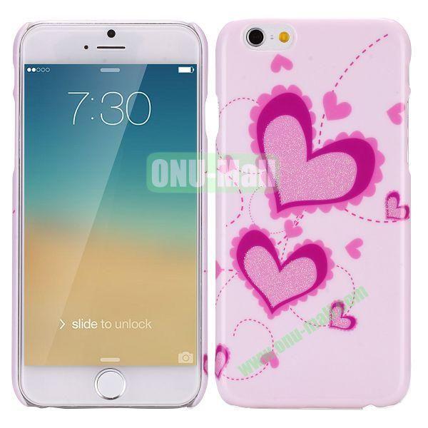 Glitter Powder Romantic Pattern PC Hard Case for iPhone 6 Plus 5.5 inch(Heart Shape)