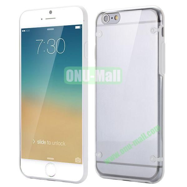 Ultrathin Transparent PC and TPU Back Case for iPhone 6 4.7 inch (White)