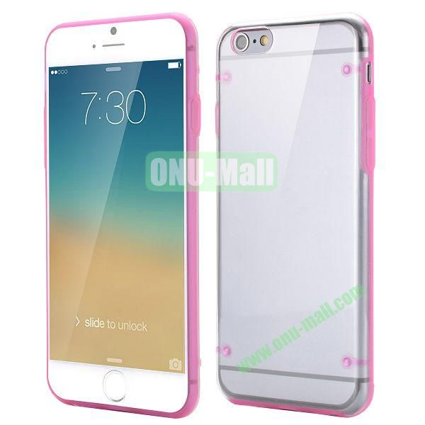 Ultrathin Transparent PC and TPU Back Case for iPhone 6 4.7 inch (Rose)