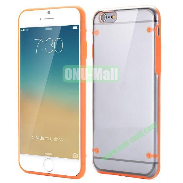 Ultrathin Transparent PC and TPU Back Case for iPhone 6 Plus 5.5 inch (Orange)