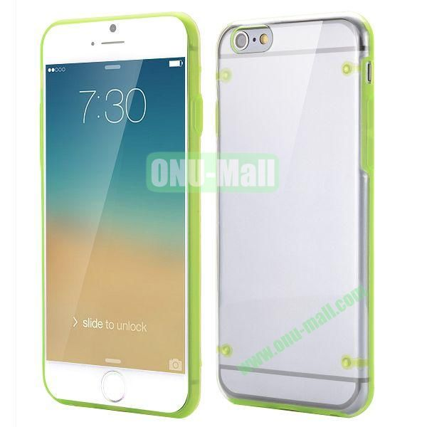 Ultrathin Transparent PC and TPU Back Case for iPhone 6 Plus 5.5 inch (Green)