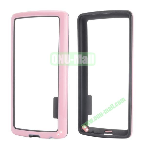 Dual Color Two in One Pattern TPU and PC Hard Bumper Frame Case for iPhone 6 4.7 (Black and Pink)