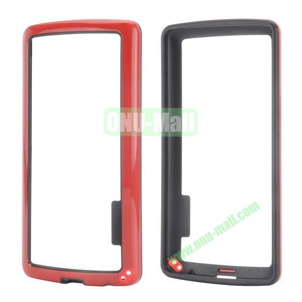 Dual Color Two in One Pattern TPU and PC Hard Bumper Frame Case for iPhone 6 4.7 (Black and Red)
