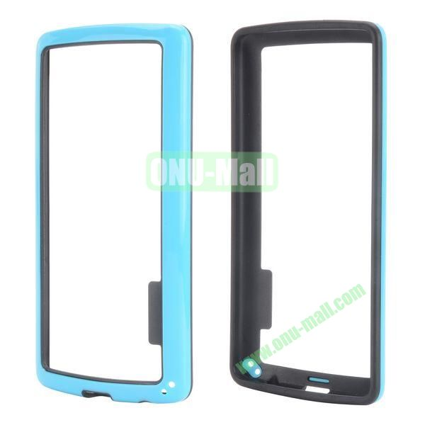 Dual Color Two in One Pattern TPU and PC Hard Bumper Frame Case for iPhone 6 4.7 (Black and Blue)